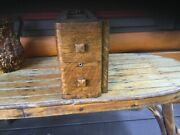 Vintage New Home Treadle Sewing Machine Set Oak Drawers And Frames 2 Of 2 Sets