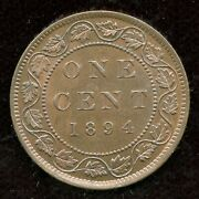 1894 Canada Large One Cent Coin