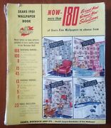 1951 Sears Wallpaper Book Great Mid Century Modern Patterns 100 + Pages