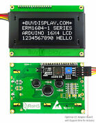 Black Iic/i2c/twi Character 16x4 Serial Lcd Module Display For Arduino W/library