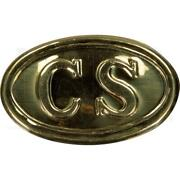 Confederate Soldier Enlisted Us Cavalry Civil War Brass Belt Buckle 2 X 3-1/2