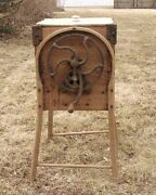 Rustic Hardwood Butter Churn Bentwood Legs Hand Crank 4 Paddles Early 1900s