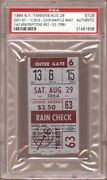 Mickey Mantle 1964 Psa Ticket Pass Hr 477 Ties Babe Ruth 1330 Strike Out Record