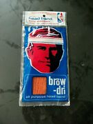 Brand New In Package Vintage 1970and039s Buffalo Braves Basketball Orange Head Band