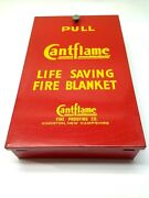 Cantflame Life Saving Fire Blanket With Wall Mountable Case