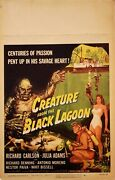 Creature From The Black Lagoon  Window Card 1954 Vf Folded And Untouched Gr8 Col