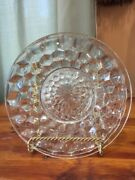 Fostoria Glass American Clear Crystal 6 Plate Saucer Vintage
