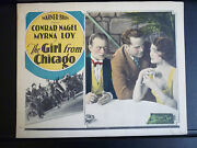 1927 Girl From Chicago - Myrna Loy In Roaring 20s Crime Film -exc Con Lobby Card