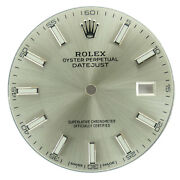 Rolex Datejust Mens Silver Index Dial For 41mm 126333 / 126303 Watches