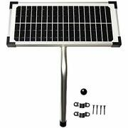 10 Watt Solar Panel Kit Fm123 For Mighty Mule Automatic Gate Openers Home