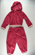 Vtg Me 'n You S Schwab Co Red Cotton Blend Toddler Two Piece Track Suit
