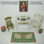 Rare 1980 James Hastrich Mary Grady Oand039brien Washstand/table Dollhouse Miniatures