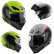 Agv Compact St Detroit Black White Red / Yellow Fast And039n Free Shipping - Flipup.