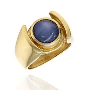 Gentlemanand039s Synthetic Blue Star Sapphire Ring