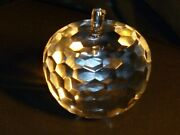 Simon Designs Crystal Apple Paperweight 3 1/2