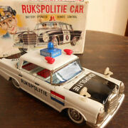 1950s Tinplate Ruk Police Car Battrey/remort Control With Box Made In Japan