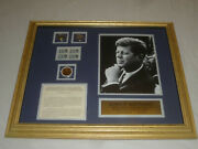 Framed John F Kennedy Limited Edition Stamps Coins And Photo 1964 5787/15000 Jfk