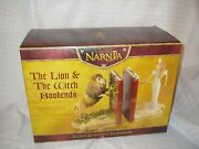Chronicles Of Narnia Bookends Aslan White Witch Le Weta Collectibles Disney