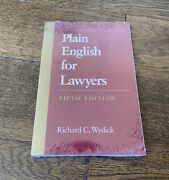 Plain English For Lawyers 5th Ed. - Wydick Understanding Modern Real Estate