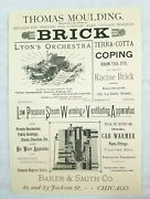 1887 Chicago Illinois Baker Steam Apparatus Campbell Real Estate Advertisement