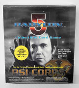 Babylon 5 Ccg Psi-corps Edition Booster Box 24 Packs 8 Cards Each Sealed New