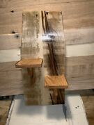 Rustic Primitive Reclaimed Wood Wall Sconce With Candle Shelves Oak Pallet Nice