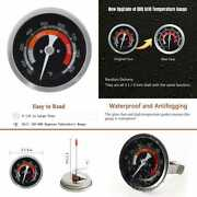 Grill Temperature Gauge For Big Green Egg 150 900°f Waterproof 3 1/4 Large Face