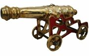 Antique Style Cannon With Stand – Brass – Heavy And Large - Best Collection 5001