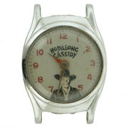 Hopalong Cassidy White Dial And Stainless Steel Watch Head For Parts Or Repairs