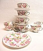 Vintage Went Worth China Japan Fairfield Pattern Tea Cups And Saucers