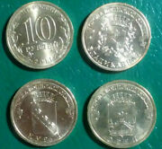 Russia 9 Different Uncirculated 10 Roubles 2011 Commemorative Hologram Coins