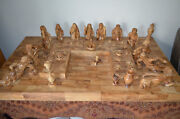 Beautiful Hand Carved Olive Wood Last Supper 44 X 24.5 And 8.5 Tall