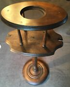 Antique Vintage Wood Pipe Stand Smoking Tobacco Table