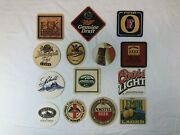 Lot Of 14 Coaster Craft Beer Drink Alcohol Amstel Schell Brewery Mgd Foster's