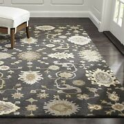 Crate And Barrel Juno Gray Parsian Oriental Style Handmade Woollen Rugs And Carpet