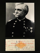 Civil War Medal Of Honor General Theodore Peck Signed Check 1882 Autographed