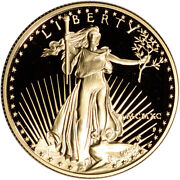 1990-p American Gold Eagle Proof 1/2 Oz 25 - Coin In Capsule
