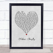 Older Chests Grey Heart Song Lyric Gift Print