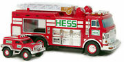 New In Box Hess 2005 Toy Emergency Truck With Rescue Vehicle No Batteries + Bag