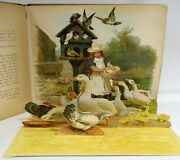 Happy Families And Their Tales Antique Victorian Pop-up Book Childrenand039s Animals