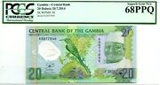 Gambia 20 Dalasis 2014 Central Bank Gem Unc Pick 30 Lucky Money Value 680