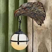 Strength Majesty Masterful Bald Eagle American Bird Frosted Glass Wall Sconce