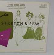 Stretch And Sew Pattern 425 Gored Skirts 21-35 Waist Vtg 60s Ann Person