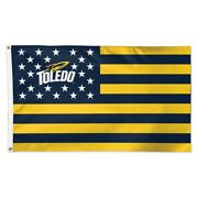 Toledo Rockets Stars And Stripes 3and039x5and039 Deluxe Flag New Wincraft