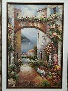 Flora Alley Hand Painted Original Oil Painting By Hanson Nature View Flowers