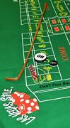 Craps Starter Kit 42 Dice Stick Layout Dice Boat On/off Puck 5 Casino Dice