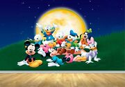 Wall Mural Decal Mickey Mouse And Friends Bedroom Vinyl Graphic Sticker Wallpaper
