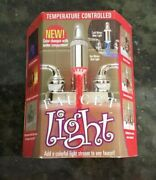 Nib New Hog Wild Red / Blue Temperature Controlled Faucet Light Nos Old Stock