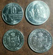Serbia Five Different Current Uncirculated High-value Coins 10 To 20 Dinara