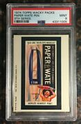 1974 Topps Wacky Packages Paper Wate Pen 9th Series Psa 9 Mint Non-sport Card